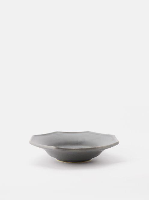 awabi ware / 八角中深皿(青マット)