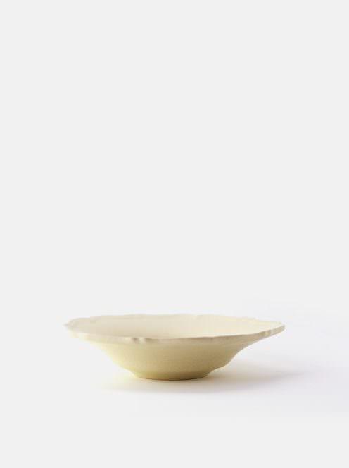 awabi ware / 輪花中深皿(アイボリー)