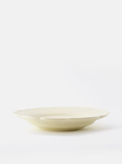 awabi ware / 輪花皿M(アイボリー)