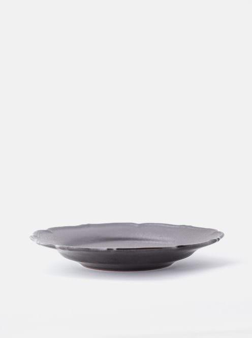 awabi ware / 輪花皿M(黒マット)