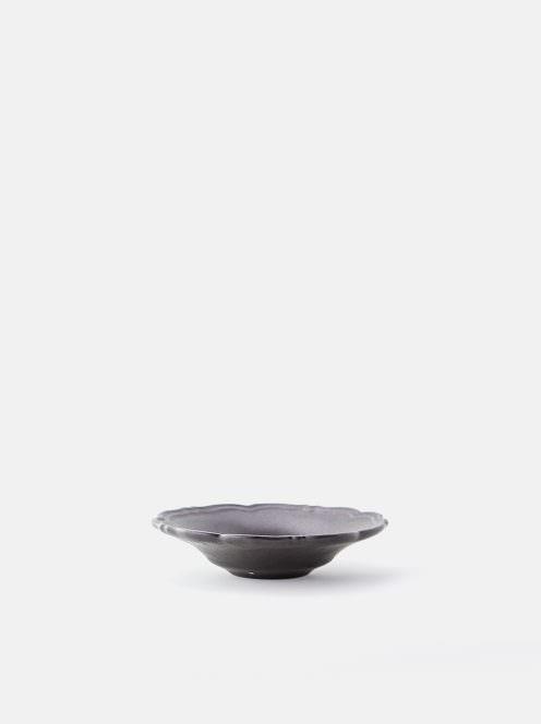 awabi ware / 輪花皿S(黒マット)