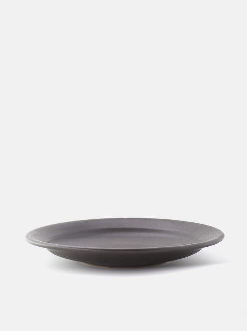 awabi ware / 8寸平成平皿(黒マット)