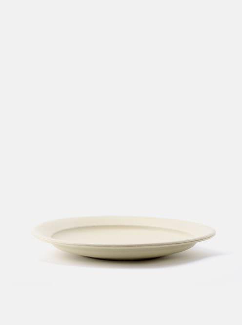 awabi ware / 8寸平成平皿(アイボリー)