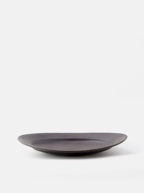 awabi ware / オーバル皿M(黒マット)