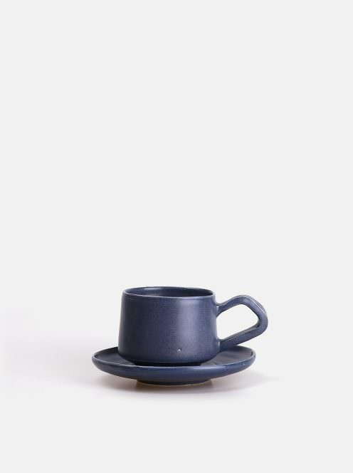 orumina kiln / カップ&ソーサー(ブルー)