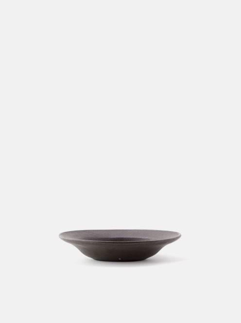 awabi ware / オーバル皿S(黒マット)