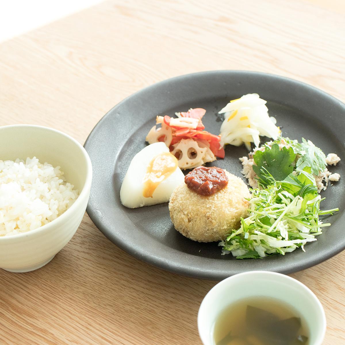 京野菜のプレートランチ