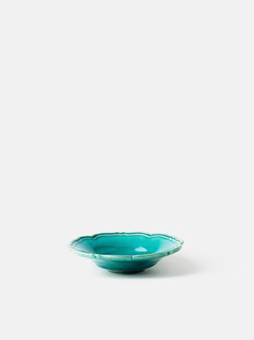 awabi ware / 輪花皿S(トルコブルー)