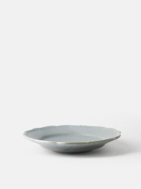 awabi ware / 輪花皿M(青マット)