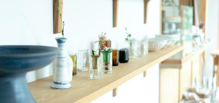 飾る日日展 空と光を集める花器