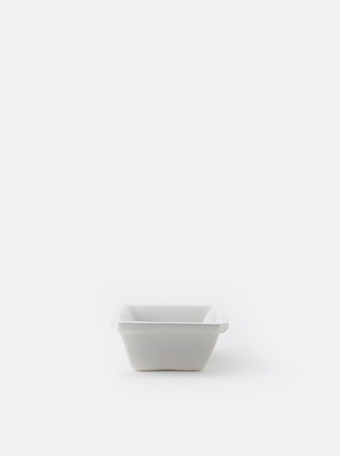 orumina kiln / 耐熱四角深皿(白)
