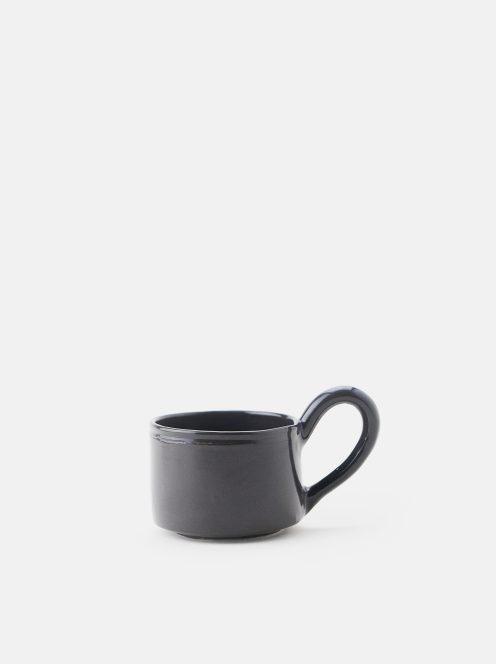 orumina kiln / カフェオレカップ大(黒)