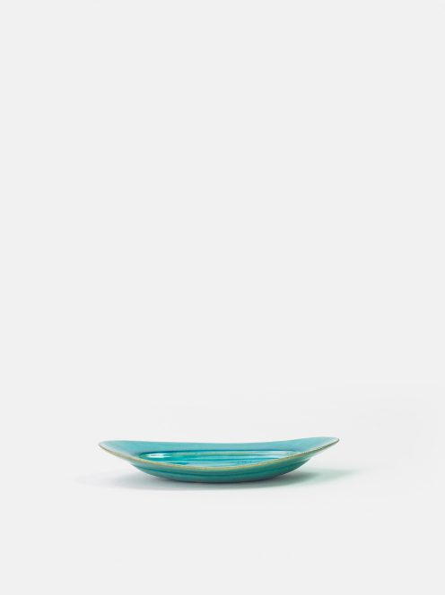 awabi ware / オーバル皿S(トルコ青)