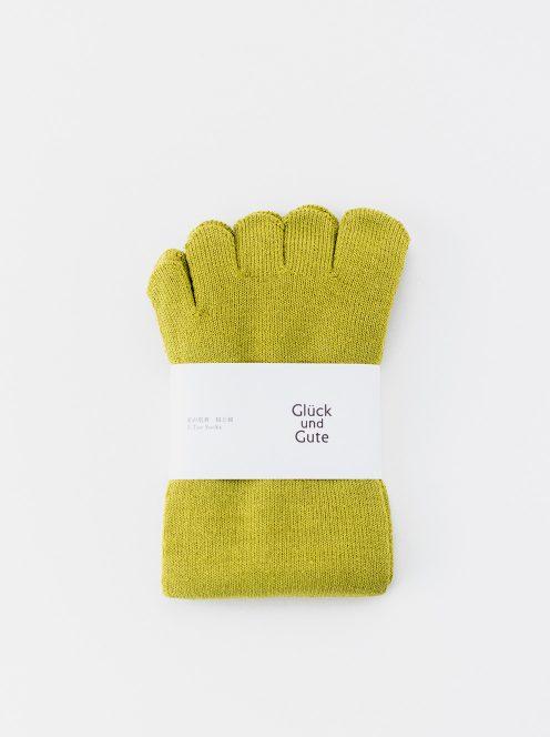 グリュックントグーテ / 五本指「足の肌着」絹と綿(ミモザ)
