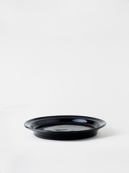 Luft / Erde Plate / 益子 25cm (ツヤ黒)