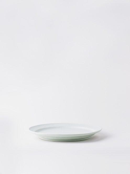 Luft / Erde Plate / 益子 21cm (白マット)