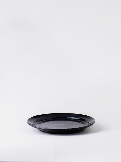 Luft / Erde Plate / 益子 21cm (ツヤ黒)