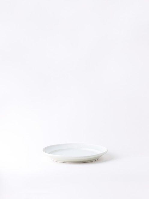 Luft / Erde Plate / 益子 17cm (白マット)