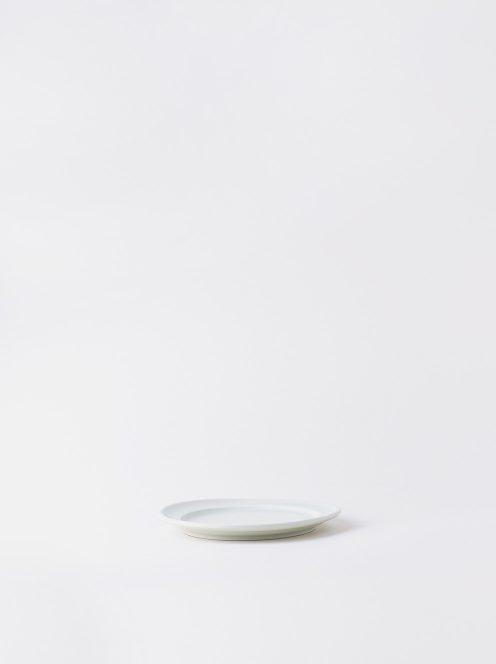 Luft / Erde Plate / 益子 14cm (白マット)