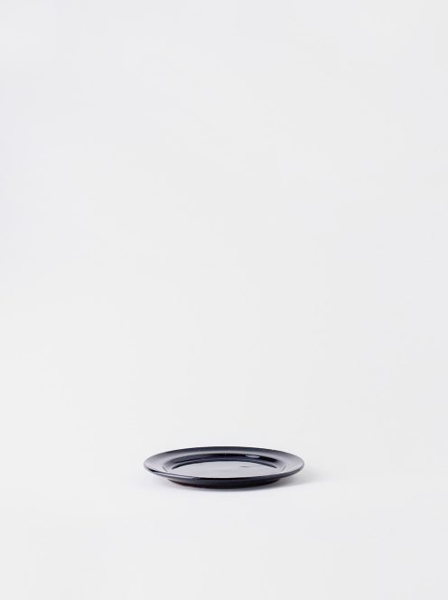 Luft / Erde Plate / 益子 14cm (ツヤ黒)