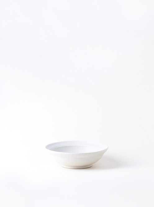 Luft / Erde Shallow Bowl / 益子(白マット)
