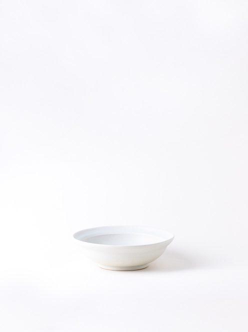 Luft / Erde Shallow Bowl / 益子(白マット)