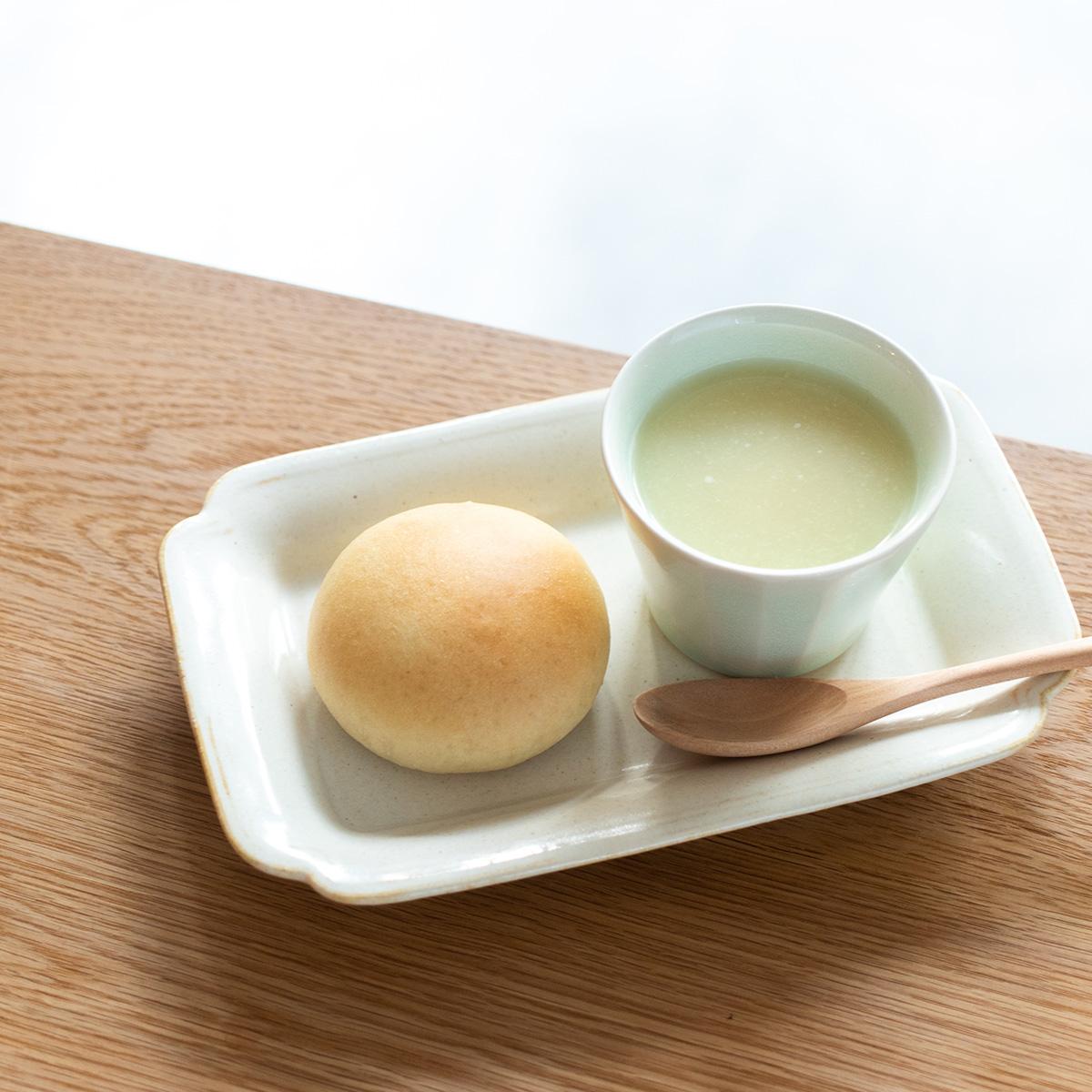 【新メニュー】スープとまるぱんのセット