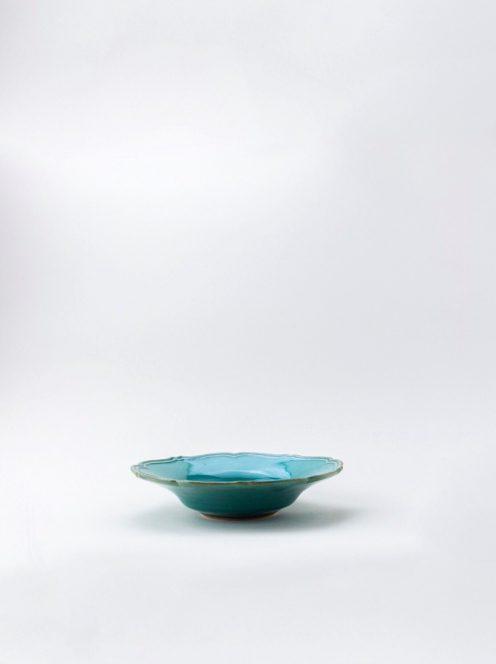 awabi ware / 輪花中深皿(トルコ青)
