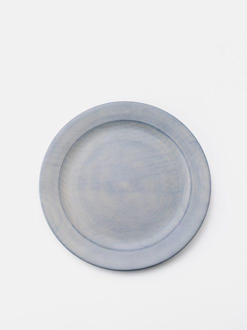 awabi ware / パン皿・大(墨染白拭き漆)