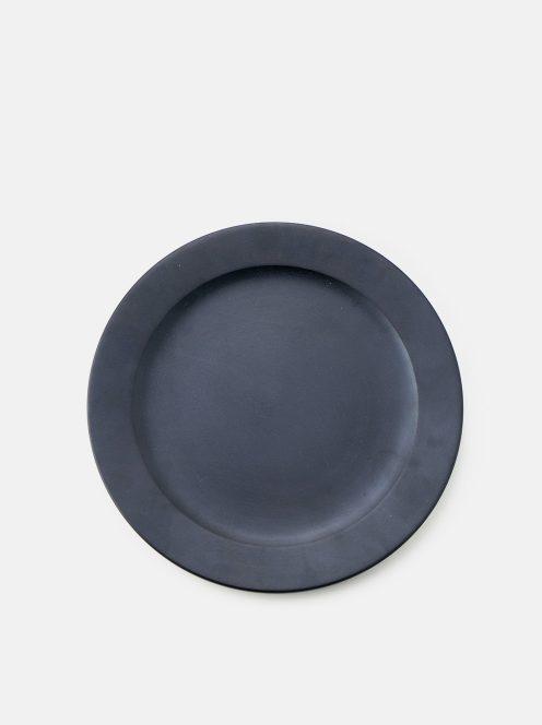 awabi ware / パン皿・大(黒拭き漆)