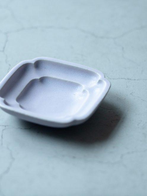 awabi ware / 四方豆皿(パープル)