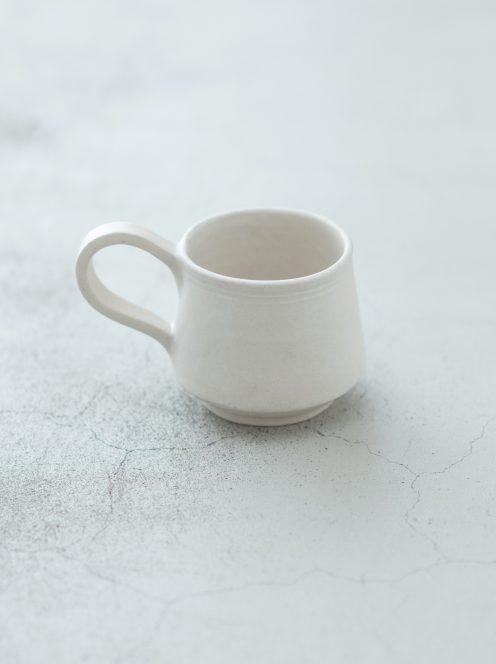 orumina kiln / カフェオレカップ(白マット)