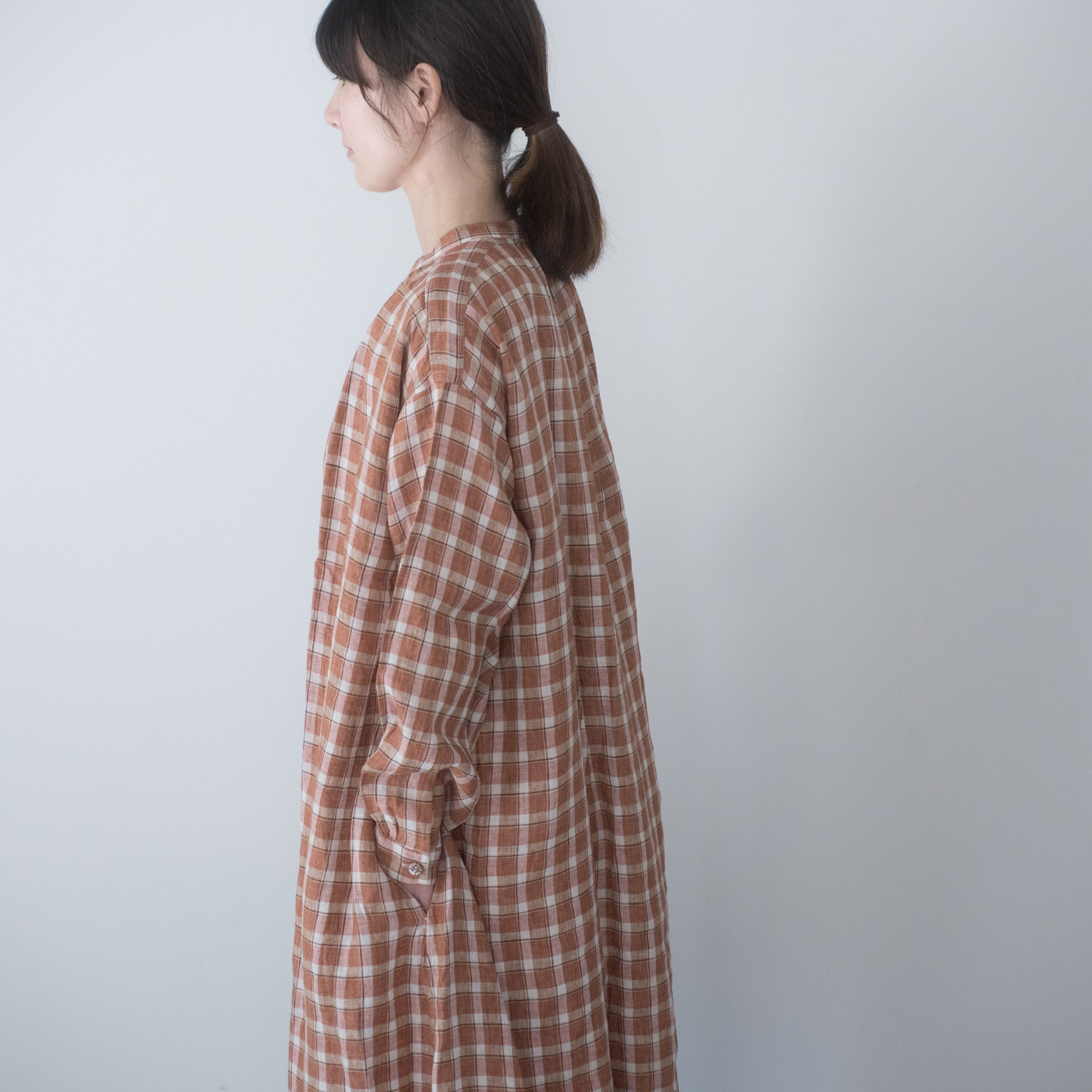 BOL DRESS(linen check)