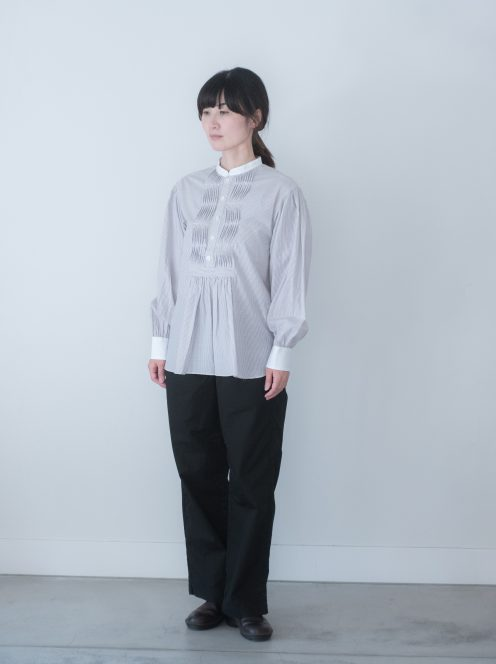 Art de V. / TUNICA SHIRT(cotton strip・beige)