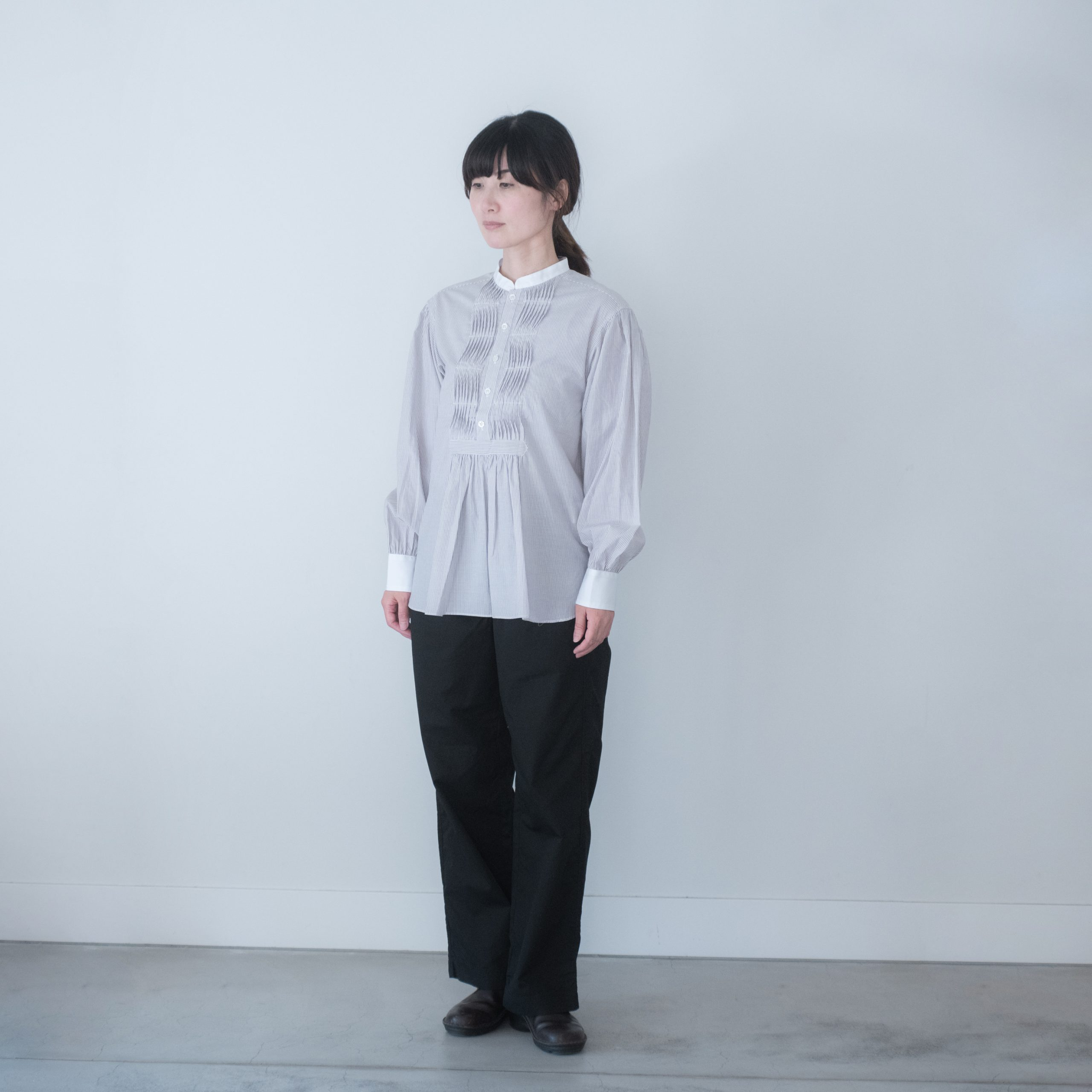 TUNICA SHIRT(cotton strip・beige)