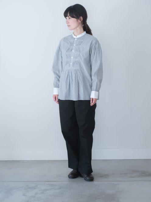 Art de V. / TUNICA SHIRT(cotton strip・black)