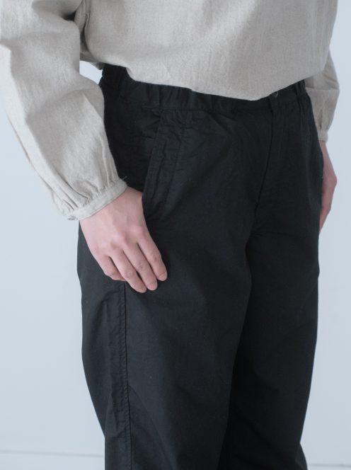 Art de V. / CHEF PANTS(cotton linen black)