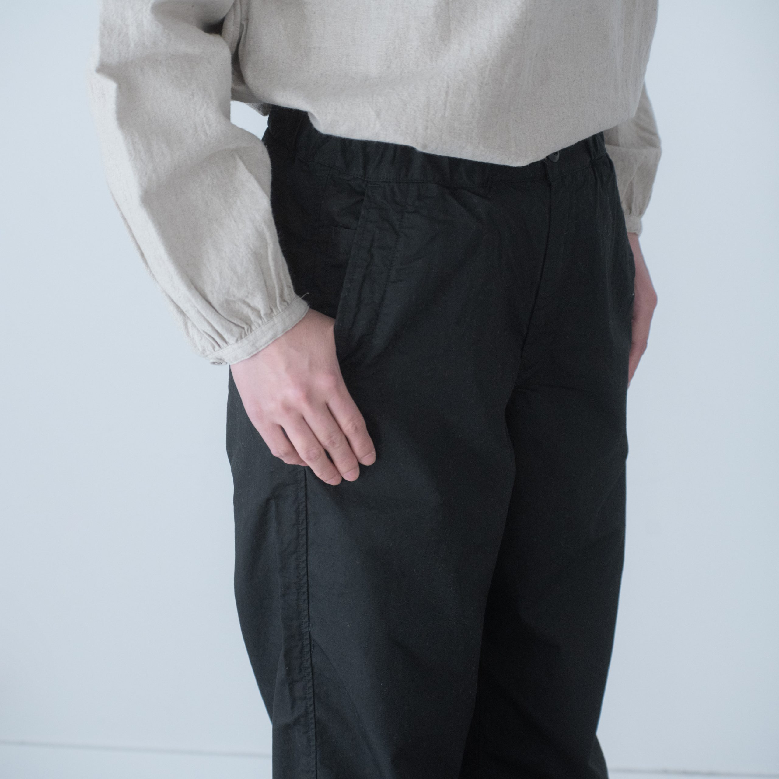 CHEF PANTS(cotton linen black)