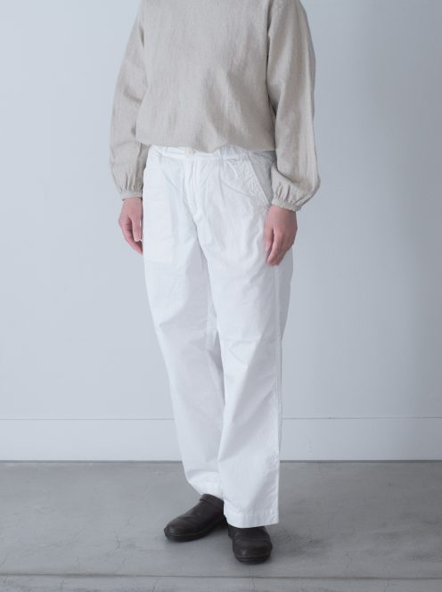 Art de V. / CHEF PANTS(cotton linen white)