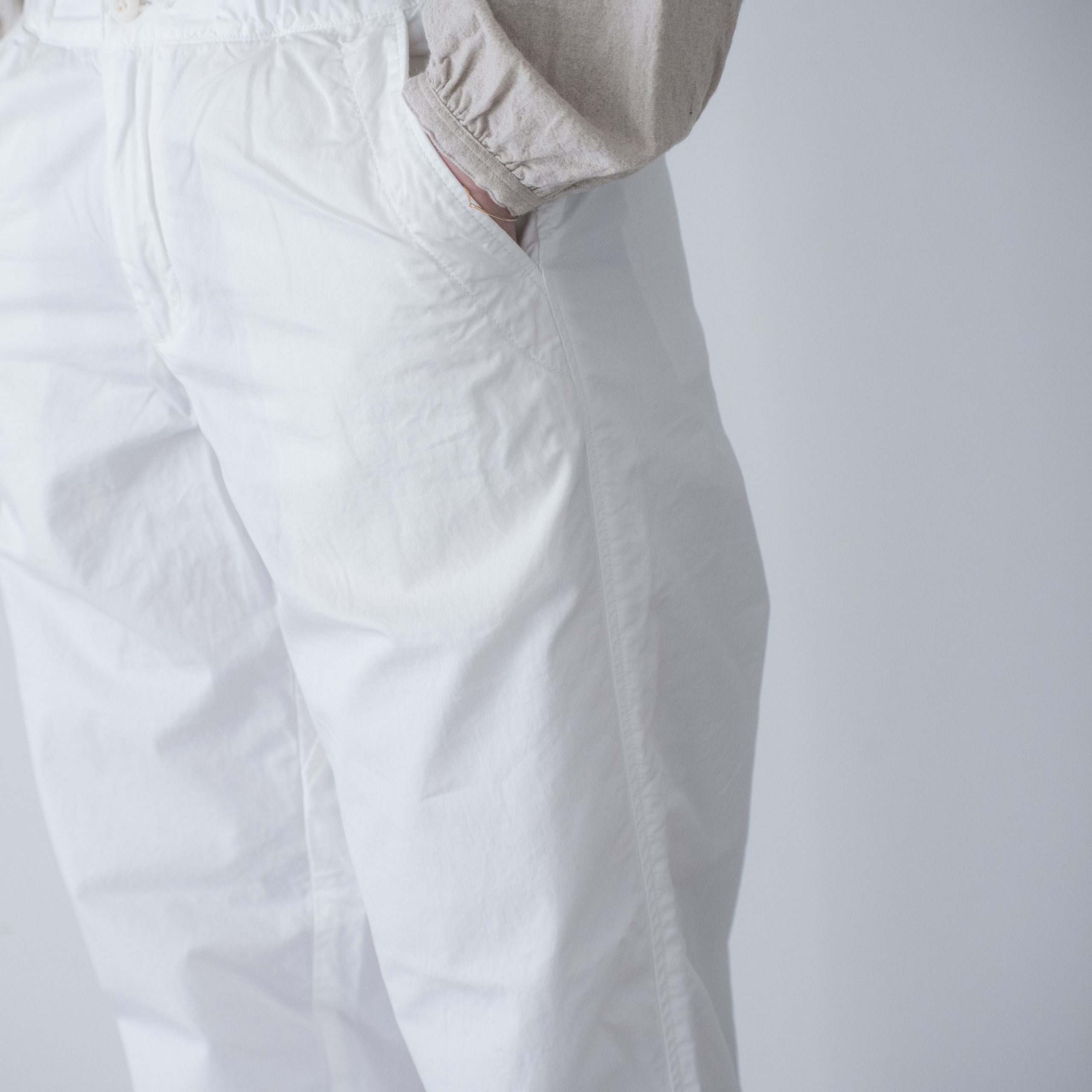 CHEF PANTS(cotton linen white)