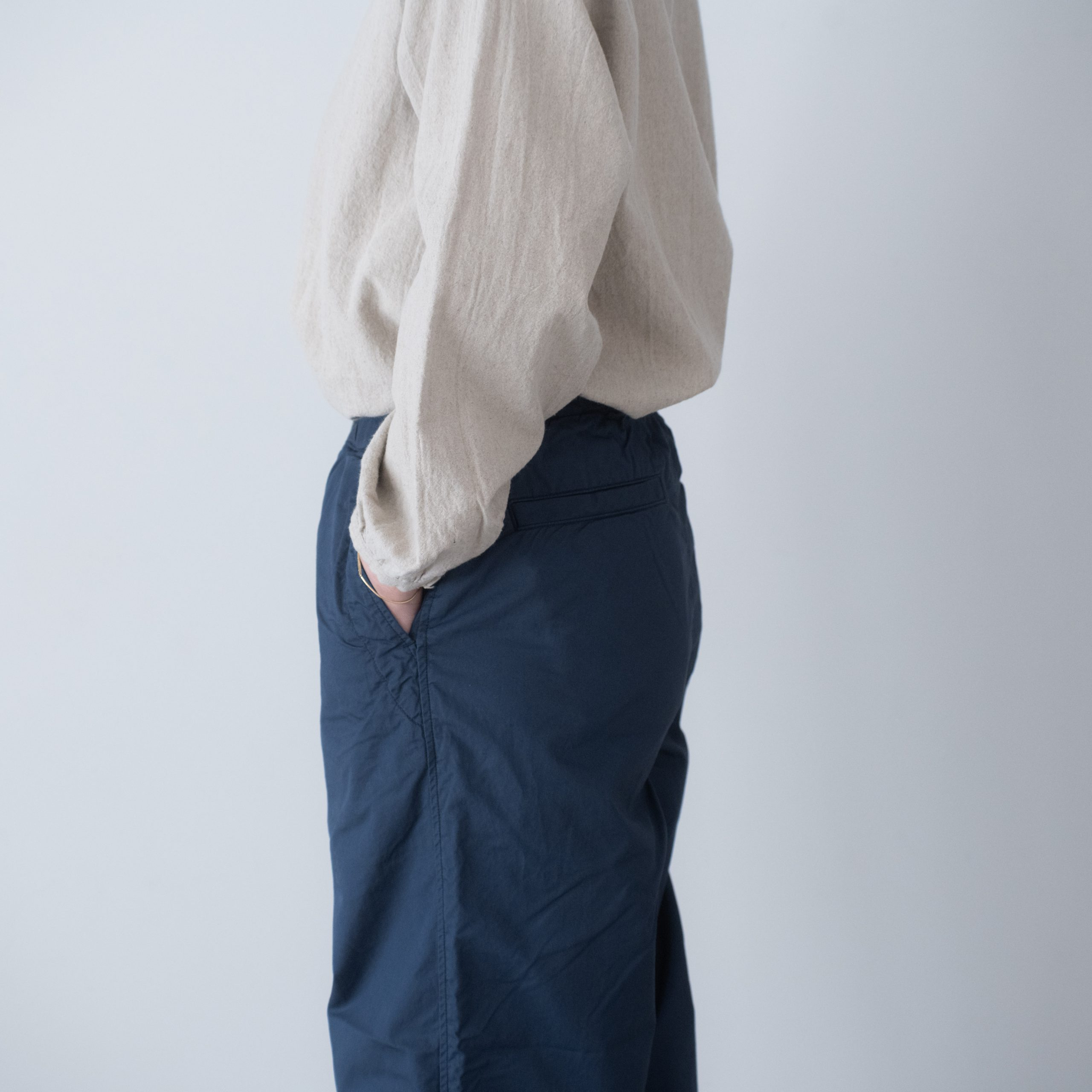 CHEF PANTS(cotton linen blue)