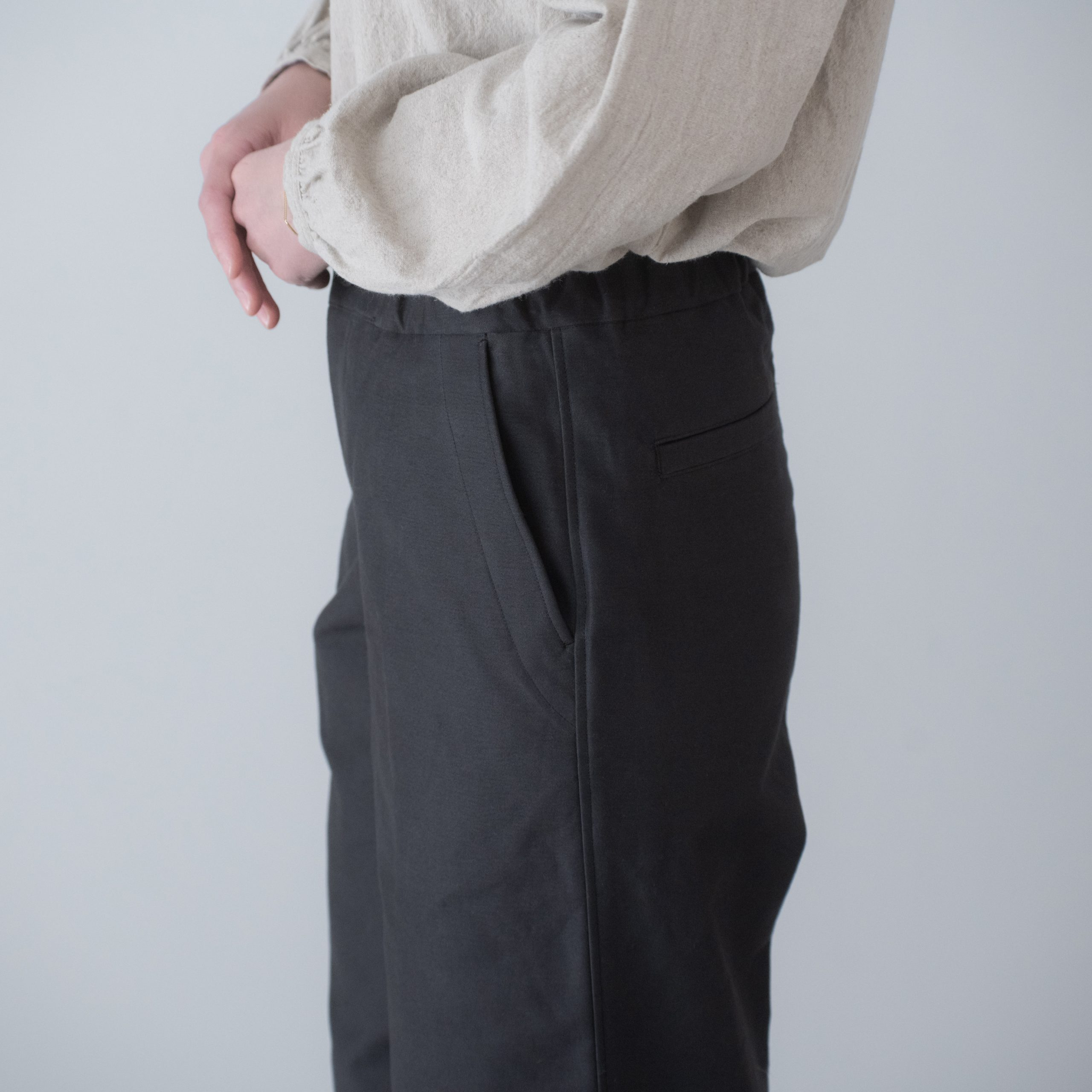 CHEF PANTS(cotton charcoal grey)