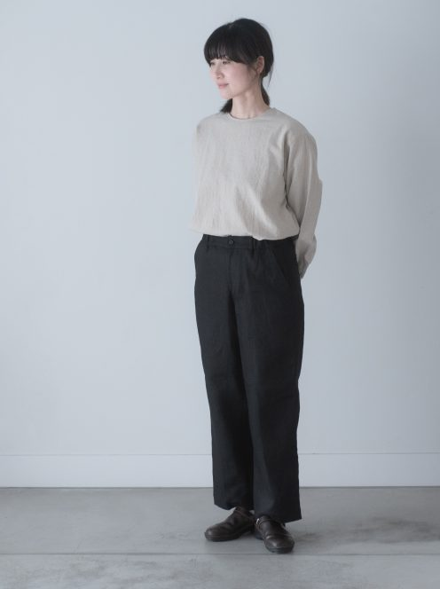 Art de V. / CHEF PANTS(linen black)