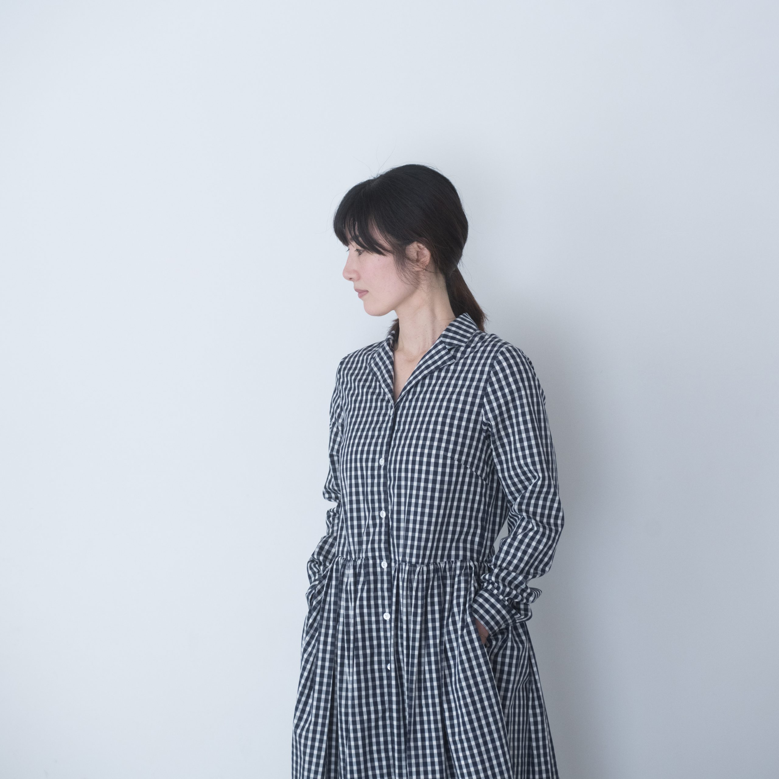 LIVRE DRESS(gingham long sleeve)
