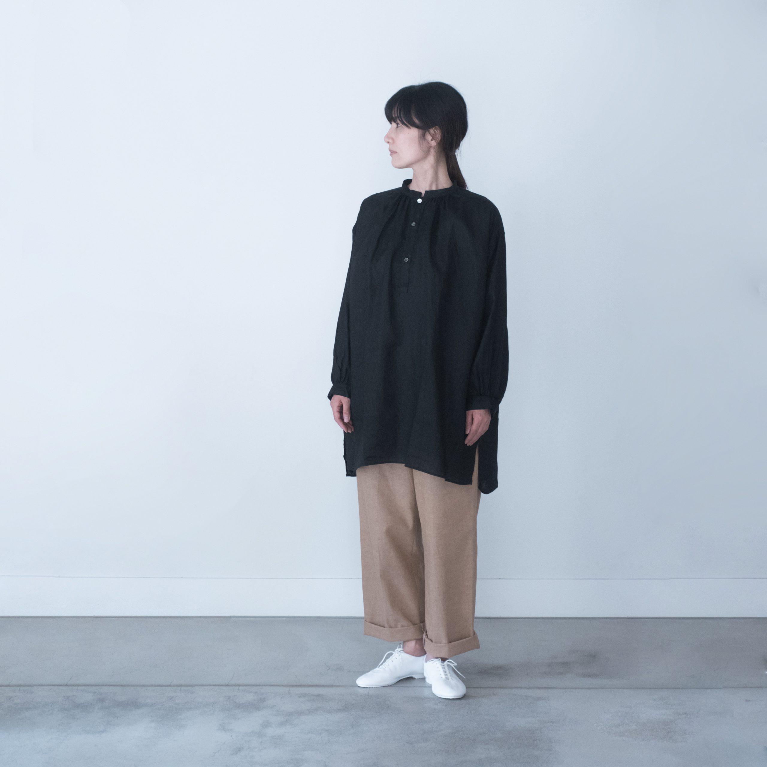 SMOCK FROCK(linen black)
