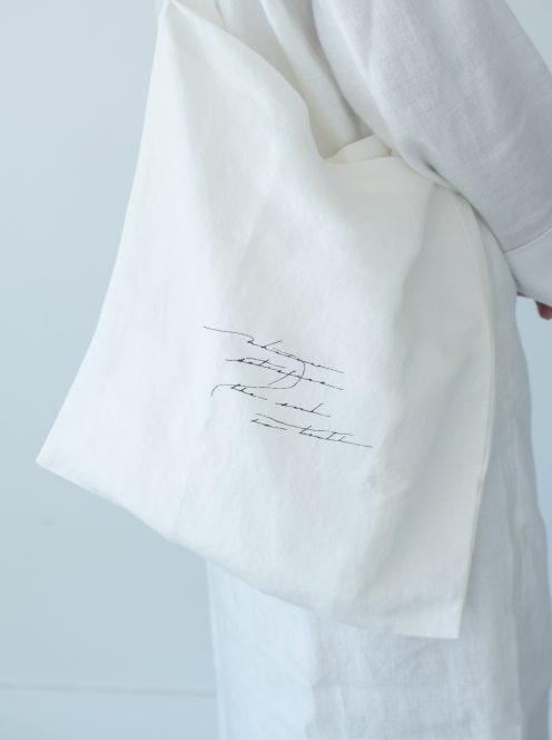 __ito__ / letter tote bag(white)中