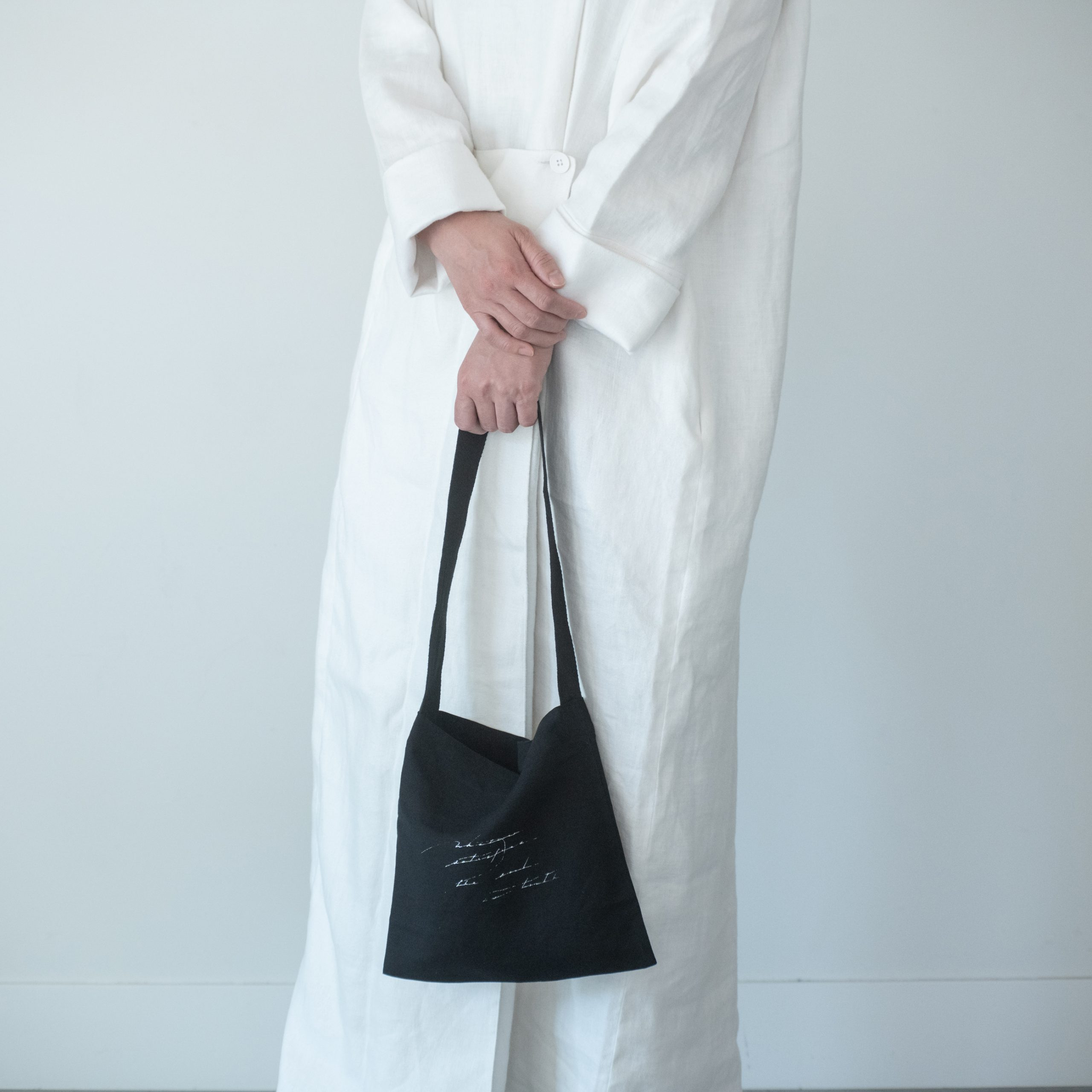 letter tote bag(black)・小