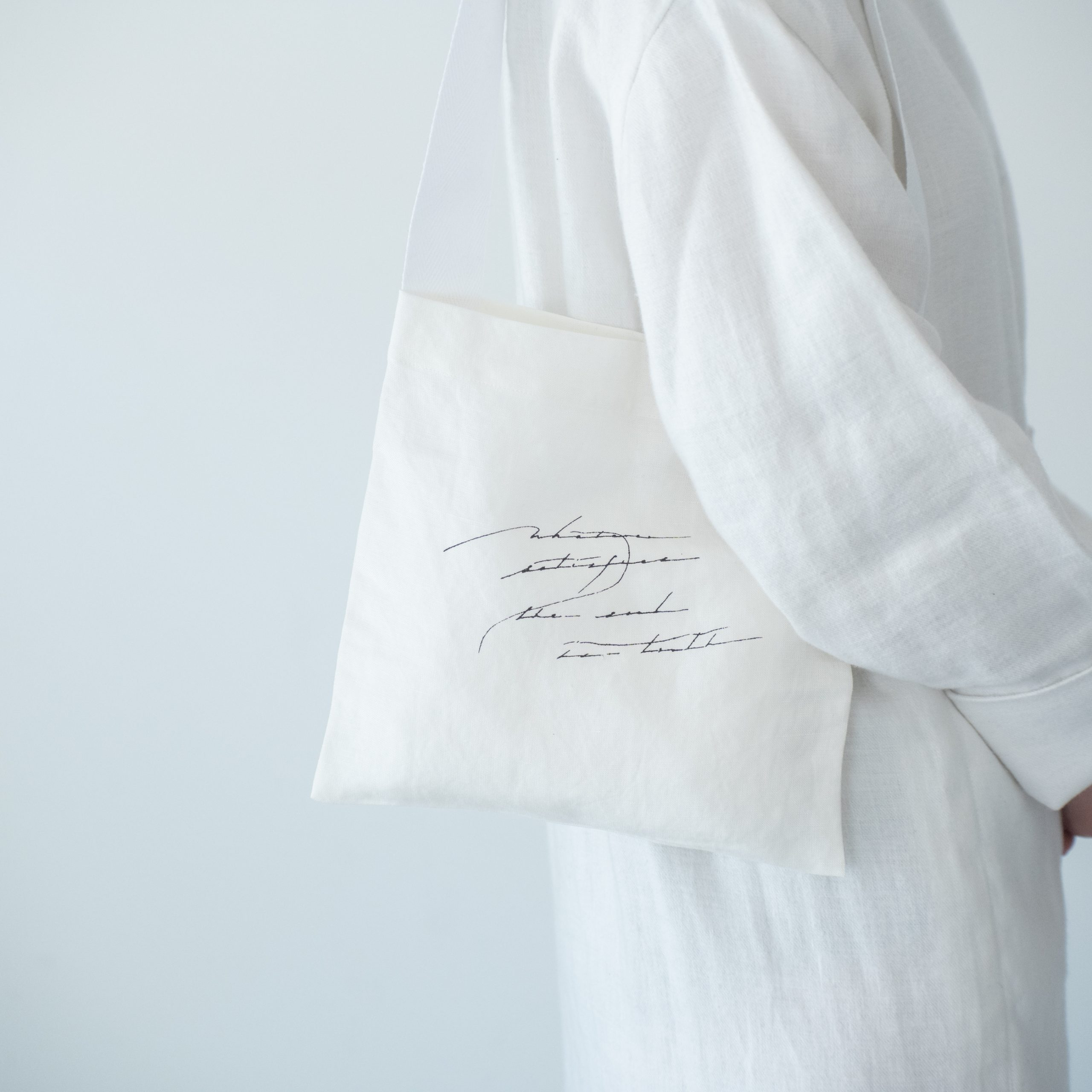 letter tote bag(white)・小