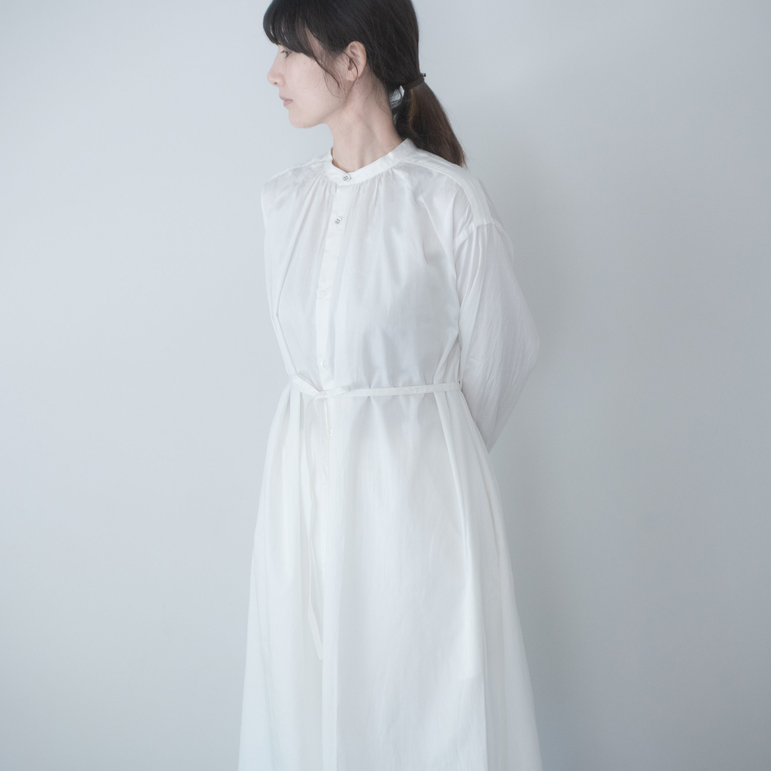 BOL DRESS(cotton silk white)